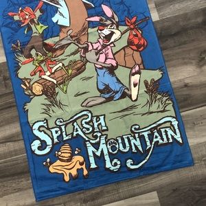 Disney Parks Splash Mountain Large Beach Towel